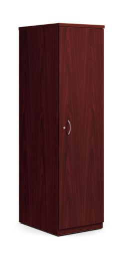 basyx BL Series Wardrobe Cabinet Mahogany Color Front Side View HBLPWC.NN