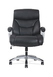 basyx by HON Big & Tall High-Back Executive Chair Black Fixed Arms Front View HVST341