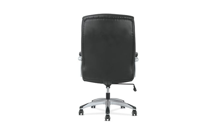basyx by HON Big & Tall High-Back Executive Chair Black Fixed Arms Back View HVST341