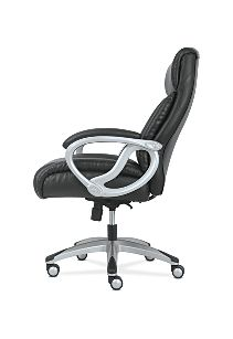 basyx by HON Big & Tall High-Back Executive Chair Black Fixed Arms Side View HVST341