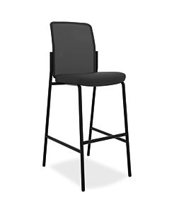 basyx Mesh Back Cafe Height Stool Black Front Side View HVL528.ES10