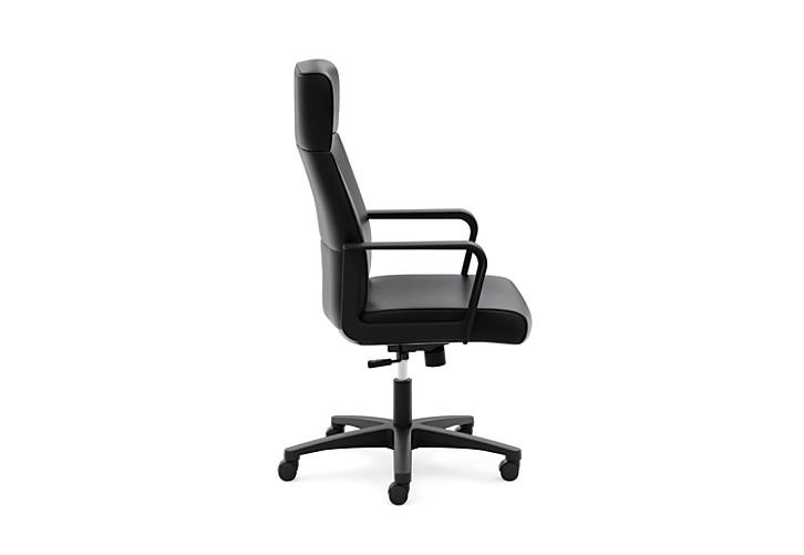 basyx HVL604 Series High-Back Executive Chair Black Side View HVL604.ES10