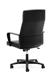basyx HVL604 Series High-Back Executive Chair Black Side View HVL604.ES10