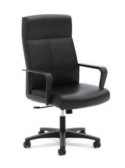 basyx HVL604 Series High-Back Executive Chair Front Side View HVL604.ES10