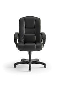 basyx High Back Executive Executive High-Back Chair Black Front View HVL131.EN11