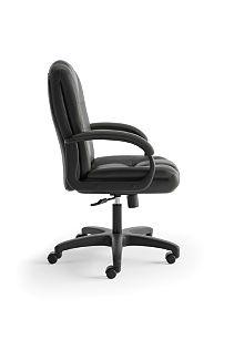 basyx High Back Executive Executive High-Back Chair Black Side View HVL131.EN11