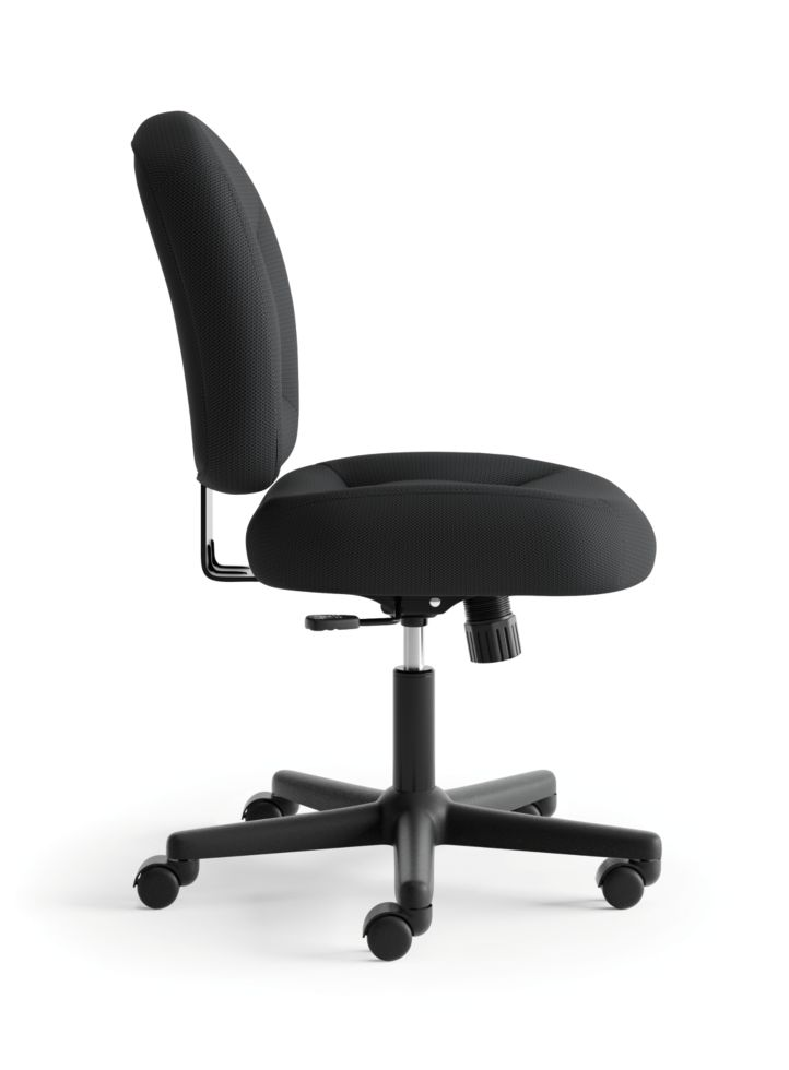 basyx HVL200 Series Low-Back Task Chair Black Side View HVL210.MM10