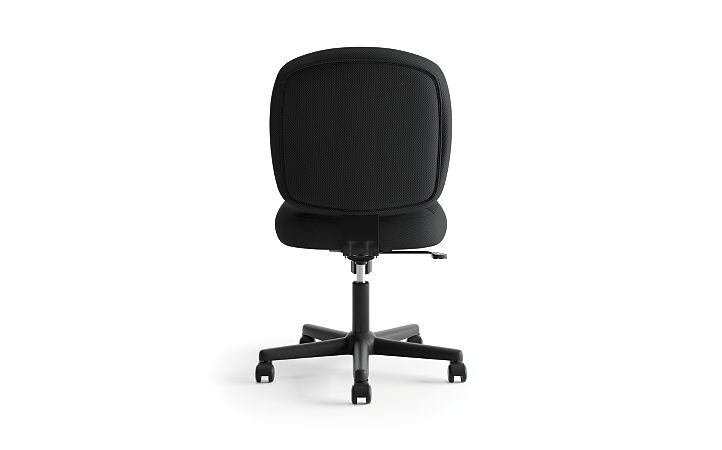 basyx HVL200 Series Low-Back Task Chair Black Back View HVL210.MM10
