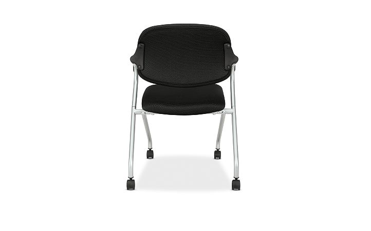 basyx HVL300 Series Nesting Chair Black Back View HVL303.MM10.X