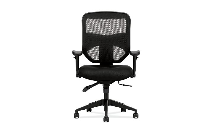basyx HVL530 Series Mesh Task Chair Front View HVL532.MM10