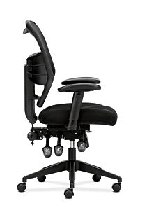 basyx HVL530 Series Mesh Task Chair Black Side View HVL532.MM10