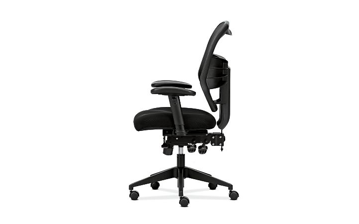 basyx HVL530 Series Mesh Task Chair Side View HVL532.MM10