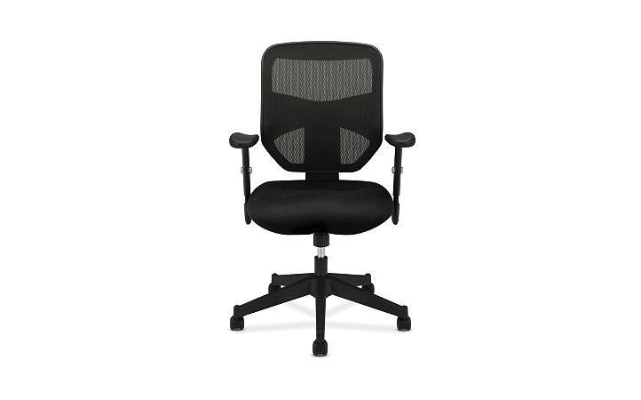 basyx HVL531 Series Mesh Back Task Chair Front View HVL531.MM10