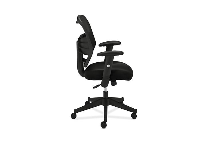 basyx HVL531 Series Mesh Back Task Chair Black Side View HVL531.MM10