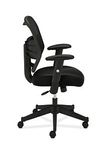 basyx HVL531 Series Mesh Back Task Chair Black Side View HVL531.MM10