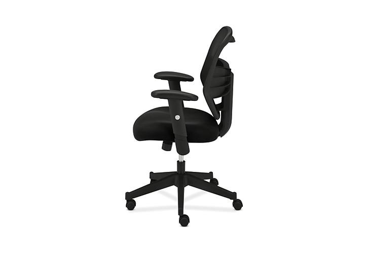 basyx HVL531 Series Mesh Back Task Chair Back Side View HVL531.MM10