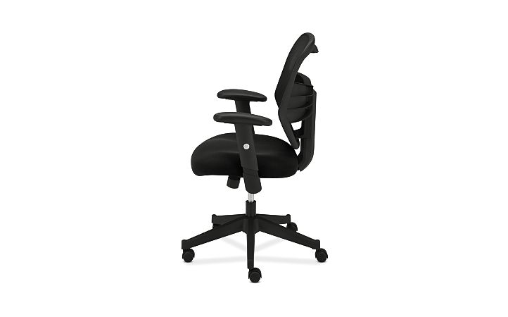 basyx HVL531 Series Mesh Back Task Chair Back Side View HVL531.MM10