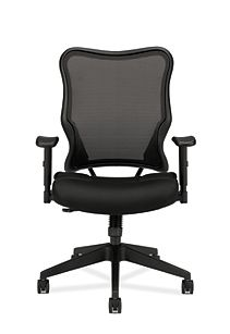 basyx HVL700 Series Mesh High-Back Task Chair Black Front View HVL702.MM10