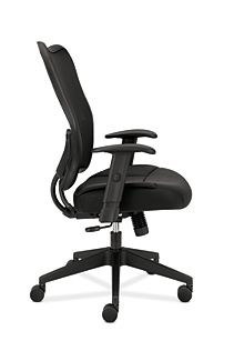 basyx HVL700 Series Mesh High-Back Task Chair Black Side View HVL702.MM10