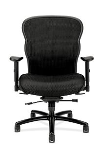 basyx HVL700 Series Mesh Big and Tall Executive Chair Front View HVL705.VM10
