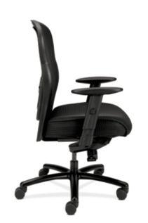 basyx HVL700 Series Mesh Big and Tall Executive Chair Black Side View HVL705.VM10