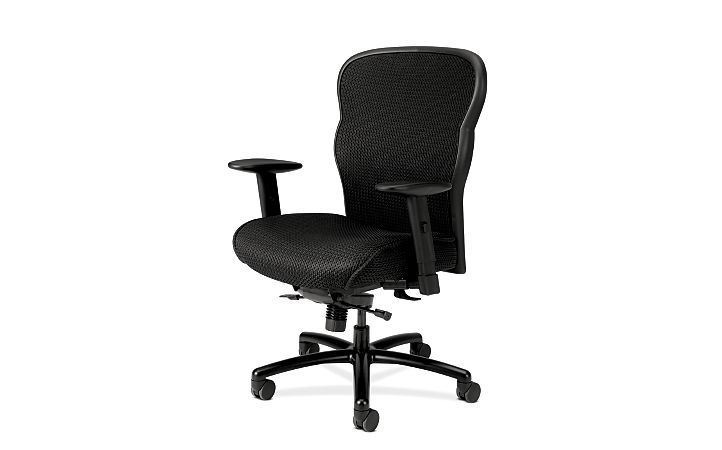 basyx HVL700 Series Mesh Big and Tall Executive Chair Front Side View HVL705.VM10