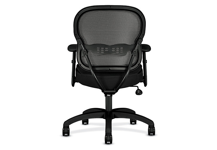 basyx HVL700 Series Mesh Mid-Back Task Chair Black Back View HVL712.MM10