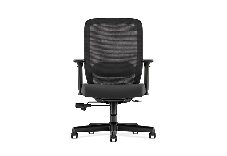 Basyx HVL720 Series Mesh Task Chair Black Front View HVL721.LH10