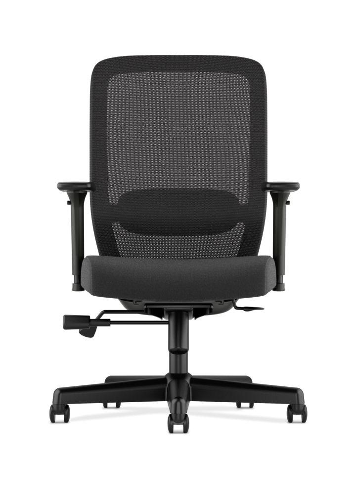 Basyx HVL720 Series Mesh Task Chair Black Front View HVL721.LH10