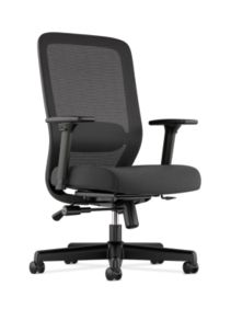 Basyx HVL720 Series Mesh Task Chair Black Front Side View HVL721.LH10
