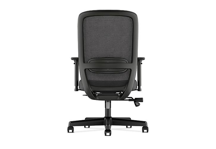 Basyx HVL720 Series Mesh Task Chair Black Rear View HVL721.LH10