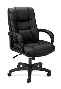 basyx High Back Executive Executive High-Back Chair Black Front Side View HVL131.EN11