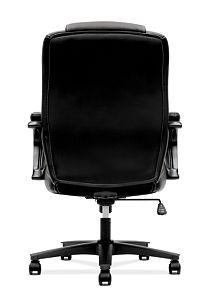 basyx by HON Executive High-Back Chair Black Leather Back View HVL402.SB11