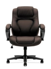 basyx by HON Executive High-Back Chair Maroon Leather Front View HVL402.SB45