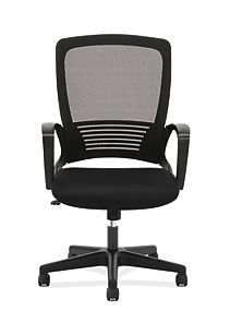 basyx High Back Executive Mesh High-Back Chair Black Front View HVL525.ES10