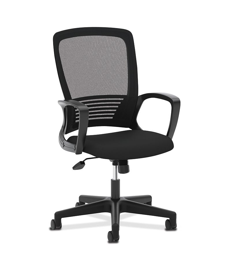 basyx High Back Executive Mesh High-Back Chair Black Front Side View HVL525.ES10