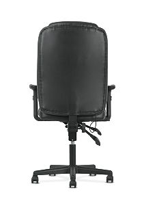 basyx by HON High-Back Task Chair Black Adjustable Arms Back View HVST331