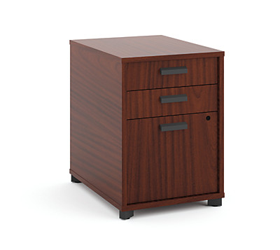 basyx Manage Pedestal File Brown Front Side View HMNG15PED.C1.A1
