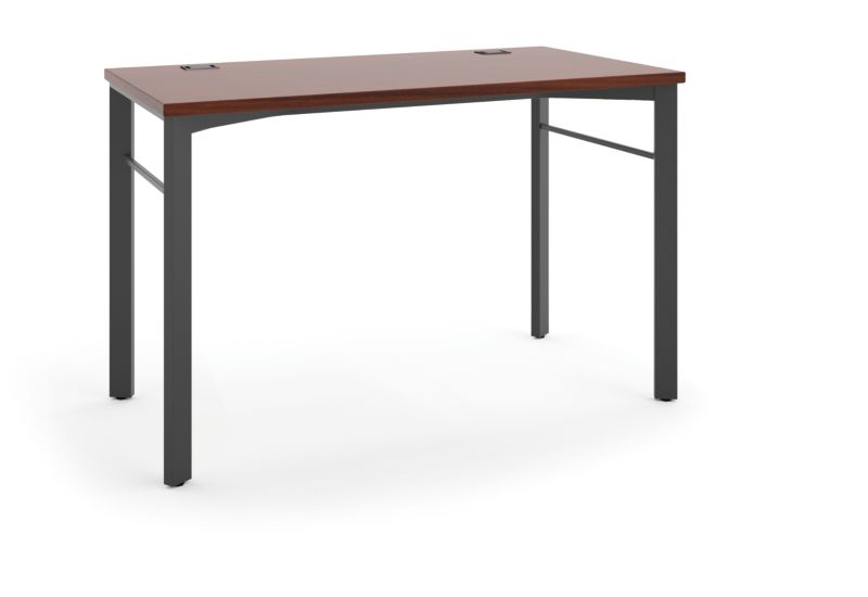 """basyx Manage Table Desk that is 48""""W x 24""""D Brown HMNG48WKSL.C1.A1"""