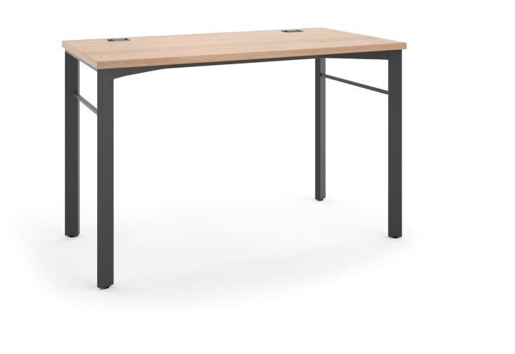 """basyx Manage Table Desk that is 48""""W x 24""""D Light Brown HMNG48WKSL.WH.A1"""