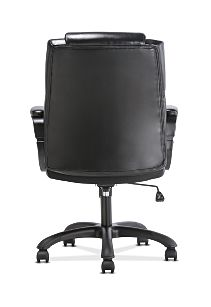 basyx by HON Mid-Back Executive Chair Black Fixed Arms Back View HVST305