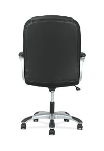basyx by HON Mid-Back Executive Chair Black Fixed Arms Back View HVST306