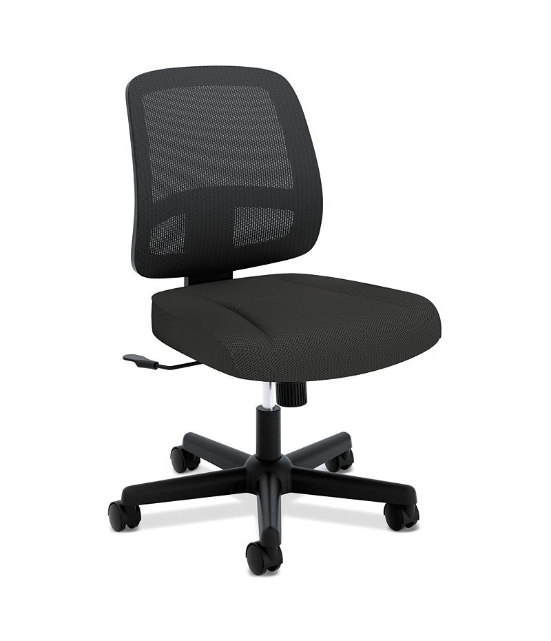 basyx Mid-Back Task Mesh Task Chair Black Front Side View HVL205.MM10.T