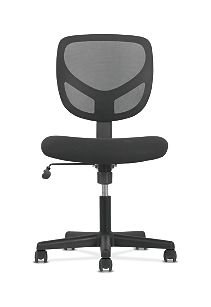 basyx by HON Mid-Back Task Chair Black Front View HVST101