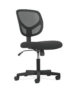 basyx by HON Mid-Back Task Chair Black Front Side View HVST101