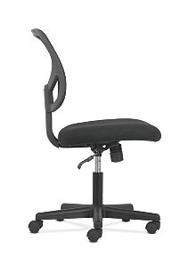 basyx by HON Mid-Back Task Chair Black Side View HVST101