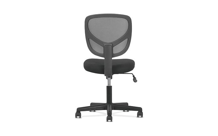 basyx by HON Mid-Back Task Chair Black Back View HVST101