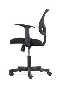 basyx by HON High-Back Task Chair Mesh Back Black Adjustable Arms Side View HVST102