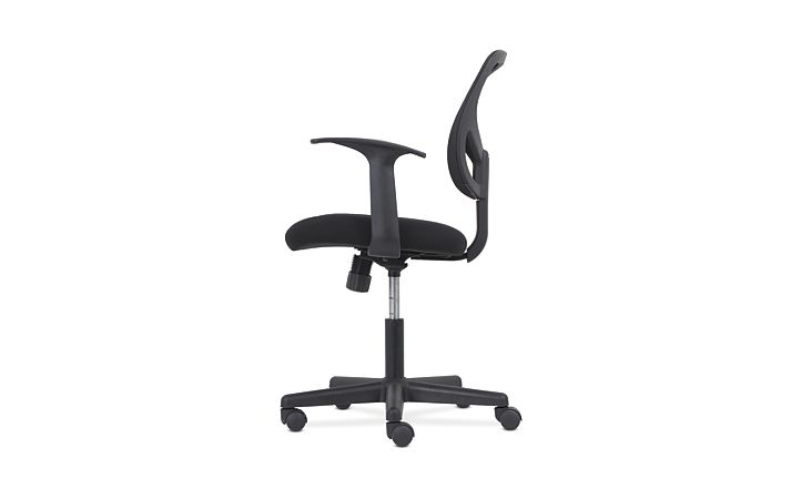 basyx by HON High-Back Task Chair Mesh Back Black Adjustable Arms Side View HVST102