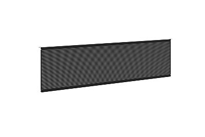 """basyx Modesty Panel for 60""""W Worksurface Black HBMPT60MOD.X"""
